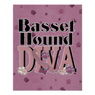 Basset Hound DIVA Poster