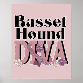 Basset Hound DIVA Posters