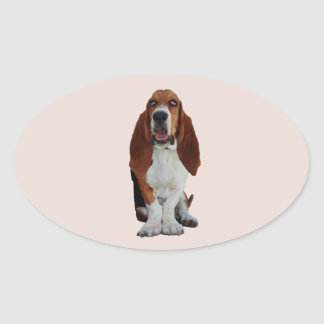 Basset Hound dog beautiful photo dog stickers