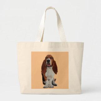 Basset Hound dog beautiful photo tote bag