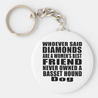 BASSET HOUND DOG BEST FRIEND DESIGNS KEY RING