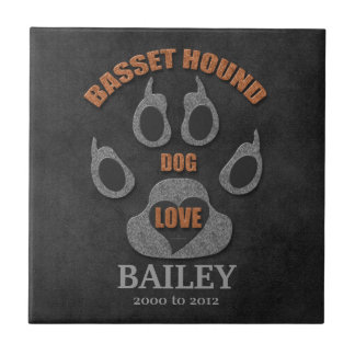 Basset Hound Dog Breed Memorial Tile