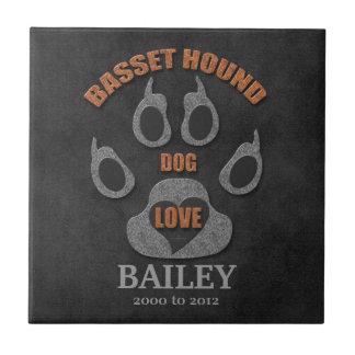 Basset Hound Dog Breed Memorial Tile