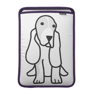 Basset Hound Dog Cartoon MacBook Sleeve
