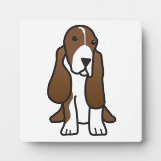 Basset Hound Dog Cartoon Plaque