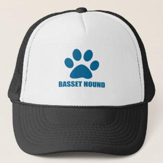 BASSET HOUND DOG DESIGNS TRUCKER HAT