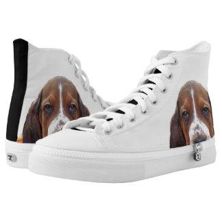 Basset Hound dog High Tops