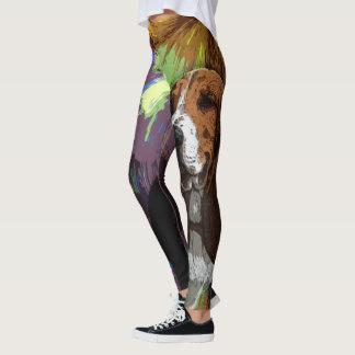 Basset Hound Dog Leggings