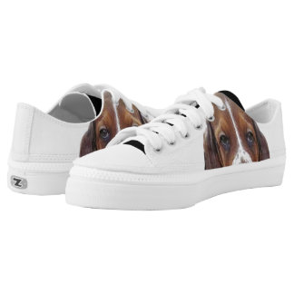 Basset Hound dog Low Tops