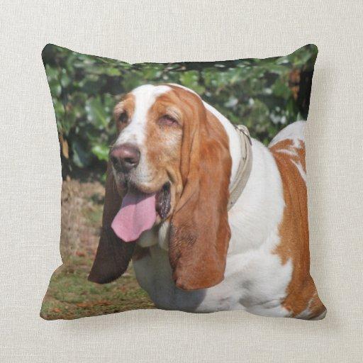 Basset Hound dog photo cushion pillow
