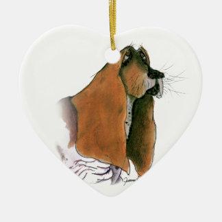 Basset Hound Dog, tony fernandes Christmas Ornament