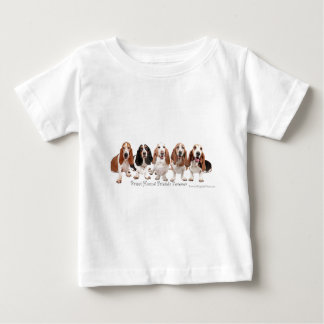 Basset Hound Friends Forever Baby T-Shirt