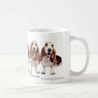 Basset Hound Friends Forever Coffee Mug