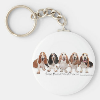 Basset Hound Friends Forever Key Ring
