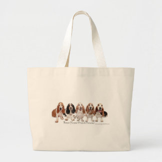 Basset Hound Friends Forever Large Tote Bag