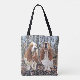 Basset Hound Friends Tote Bag