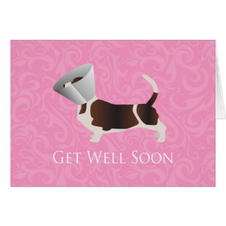 Basset Hound Get Well Soon Card
