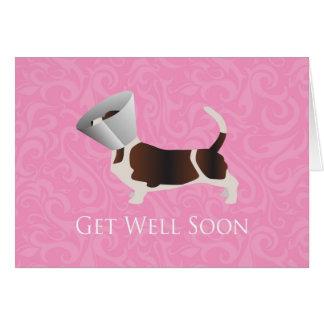 Basset Hound Get Well Soon Card