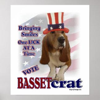 Basset Hound Gifts Poster