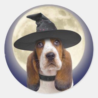Basset Hound Halloween Stickers