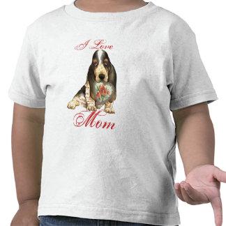 Basset Hound Heart Mom Tees