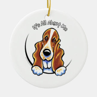 Basset Hound IAAM Round Ceramic Decoration