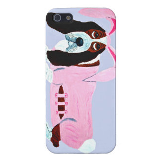 Basset Hound In Pink Bunny Suit iPhone 5 Covers