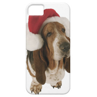 Basset hound in Santa hat Barely There iPhone 5 Case