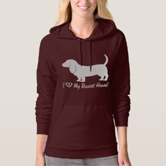 Basset Hound in Silhouette with Paw Print Hoodie