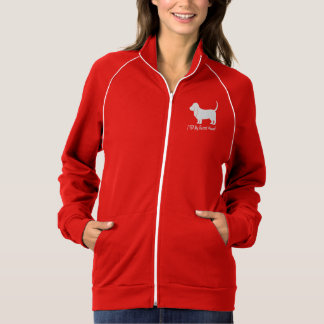 Basset Hound in Silhouette with Paw Print Jacket
