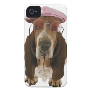 Basset hound in sunglasses and cap iPhone 4 Case-Mate case