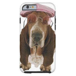 Basset hound in sunglasses and cap tough iPhone 6 case
