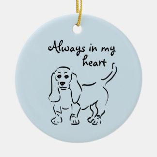 Basset Hound Keepsake - Customized Pet Loss Christmas Ornament