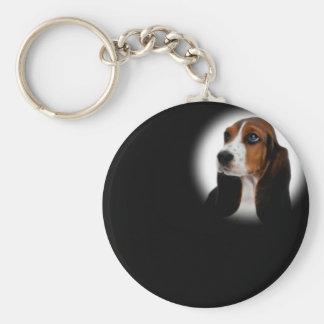 Basset Hound Key Ring