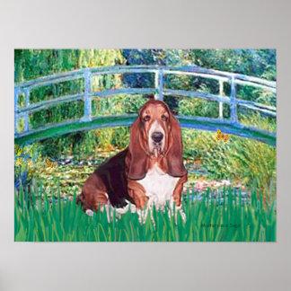 Basset Hound - Lily Pond Bridge Poster