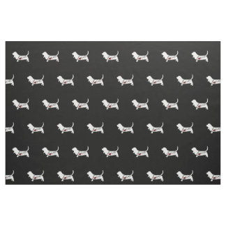 Basset Hound Love Fabric