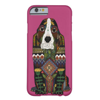 Basset Hound love fuchsia pink Barely There iPhone 6 Case