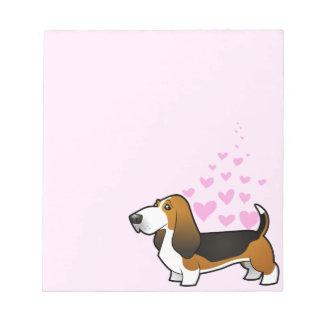 Basset Hound Love Notepad