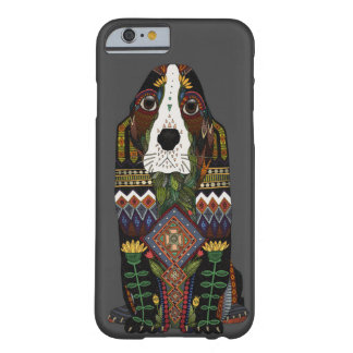 Basset Hound love pewter Barely There iPhone 6 Case