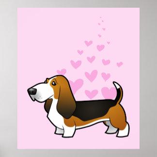 Basset Hound Love Poster