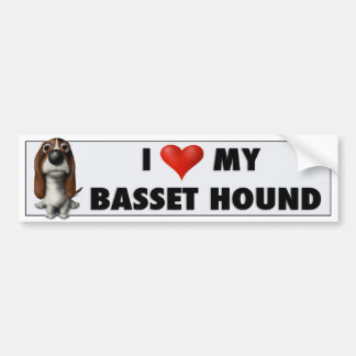 Basset Hound Love Sticker BH1 Bumper Sticker