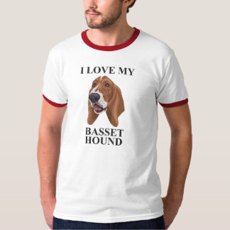 Basset Hound love T-Shirt