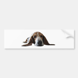 Basset Hound lying down Bumper Sticker