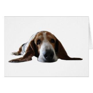 Basset Hound lying down Greeting Card