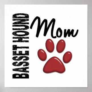 Basset Hound Mom 2 Print