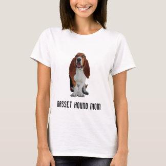 Basset Hound mom photo custom womens t-shirt