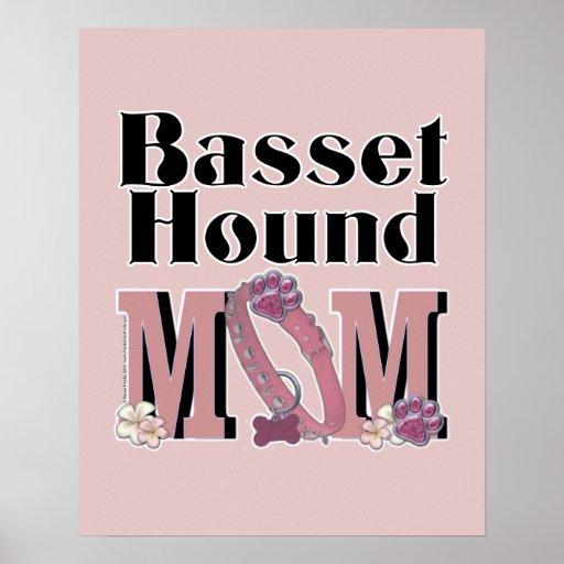 Basset Hound MOM Poster