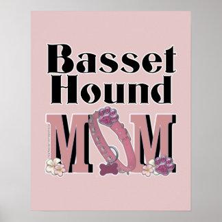 Basset Hound MOM Print