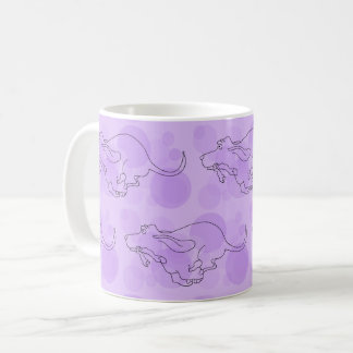 Basset Hound Mug - Purple Version