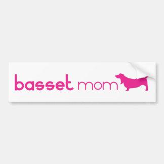 Basset Hound Mum Bumper Sticker
